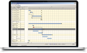 Assembly and order gantt chart
